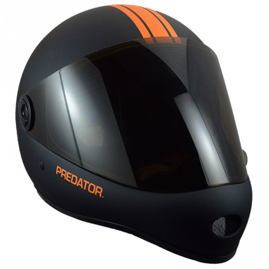 Predator DH6 Matte Black/Orange Stripes Full Face Race Helmet