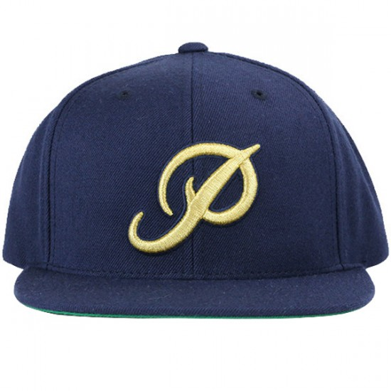 Primitive Apparel Classic P Gold Snapback Starter Hat-Navy