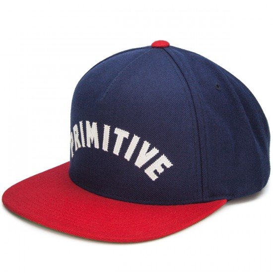 Primitive Arch Type Snapback Hat - Navy