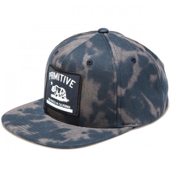Primitive Cultivated Tie Dye Snapback Hat - Navy