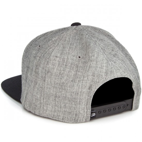 Primitive Nuevo Script Hat - Heather Grey