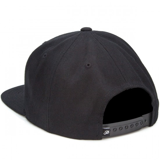 Primitive World Wide Label Snapback Hat - Black