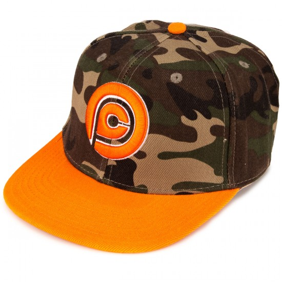 Push Culture Snapback Hat - Camo/Orange