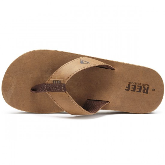 Reef Leather Smoothy Sandals - Bronze/Brown - 10.0