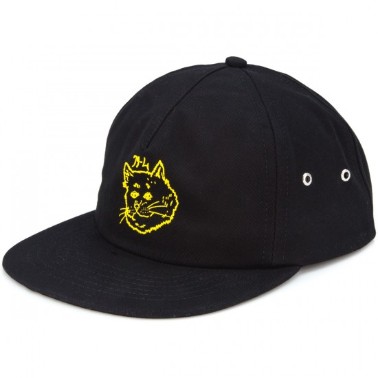 Rip N Dip Japanese Cream Five Panel Hat - Black