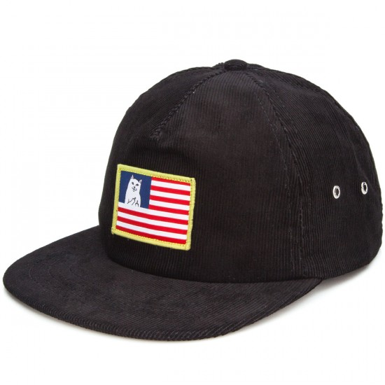 Rip N Dip Nermal In America Five Panel Hat - Black