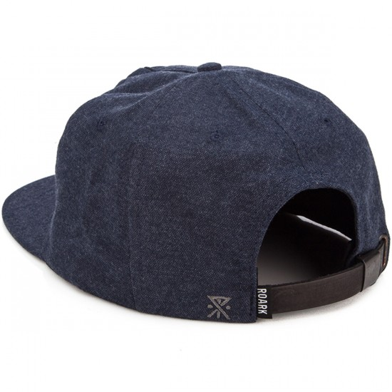 Roark Fear The Sea Collapsed Snapback Hat - Navy