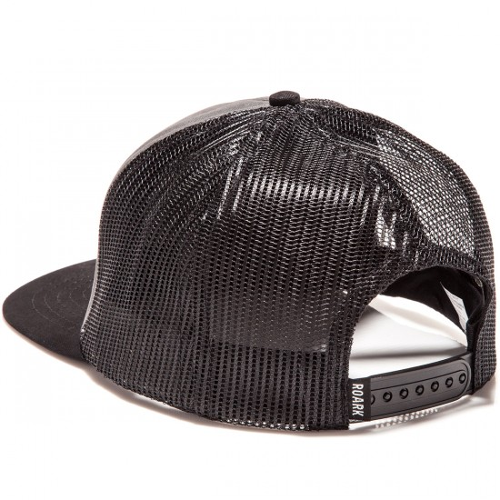 Roark Fear The Sea Mesh Snapback Hat - Charcoal