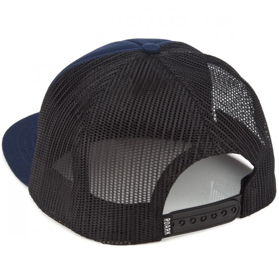 Roark Fear The Sea Mesh Snapback Hat - Navy