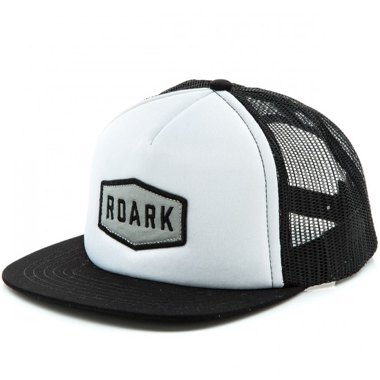 Roark Plaque Trucker Hat - Black/White