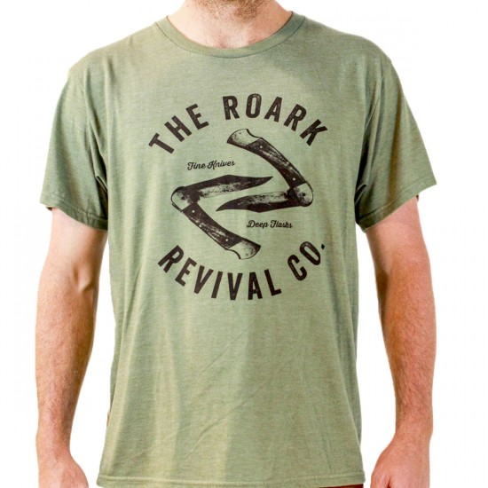 Roark Revival Company T-Shirt - Heather Green