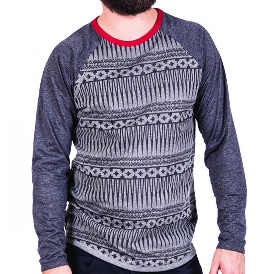 Roark Viking Shirt - Heather Charcoal Stripes