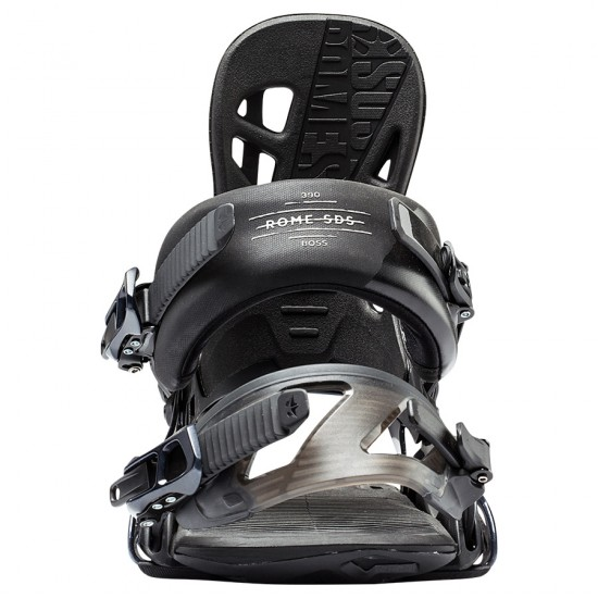 Rome 390 Boss Snowboard Bindings 2018 - Black