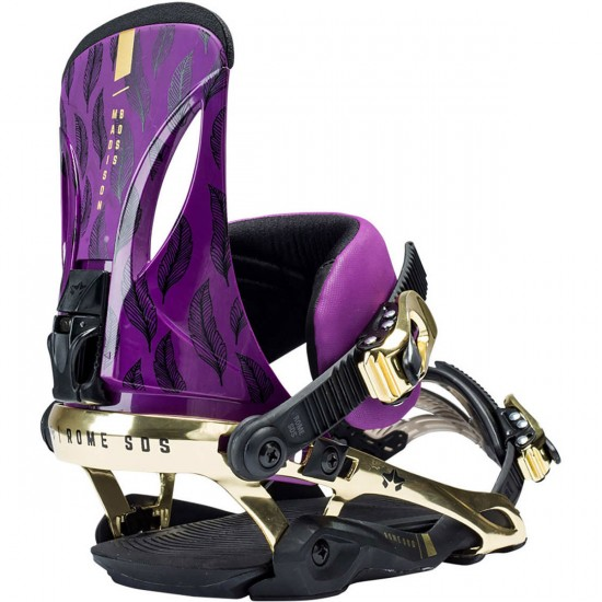 Rome Madison Boss Womens Snowboard Bindings 2018 - Feathers