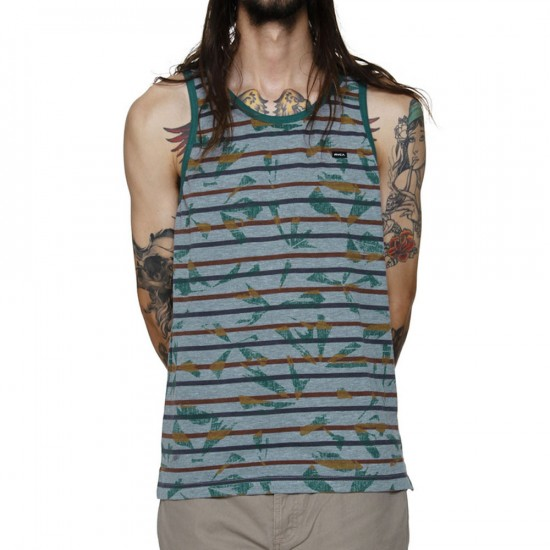 RVCA Broken Palms Tank - Bayberry