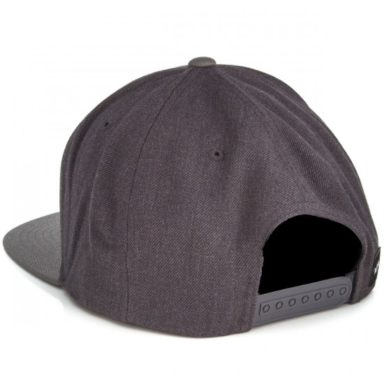 RVCA Commonwealth Snapback Hat - Charcoal Heather