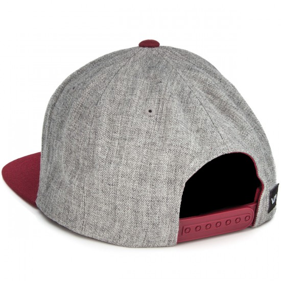 RVCA Commonwealth Snapback Hat - Heather Grey