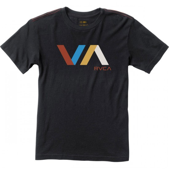 RVCA Diagonals VA Youth T-Shirt - Black