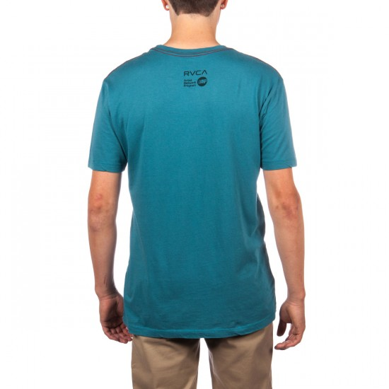 RVCA Foreword T-Shirt - Colonial Blue