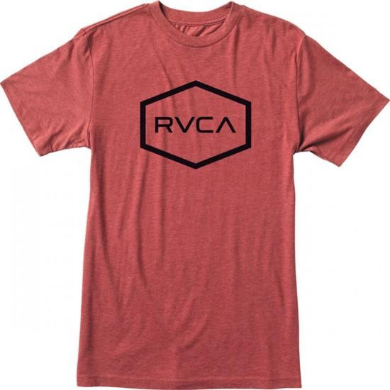 RVCA Hexed Youth T-Shirt - Brick Red