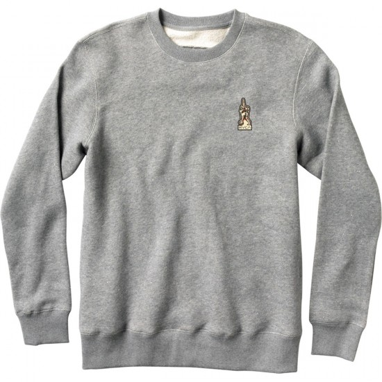 RVCA Middle Finger Sweatshirt - Athletic Heather