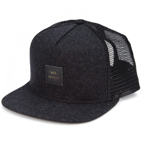 RVCA Option Five Panel Hat - Dark Grey