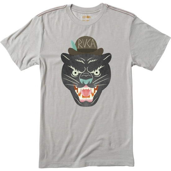 RVCA Panther Head T-Shirt - Cool Grey