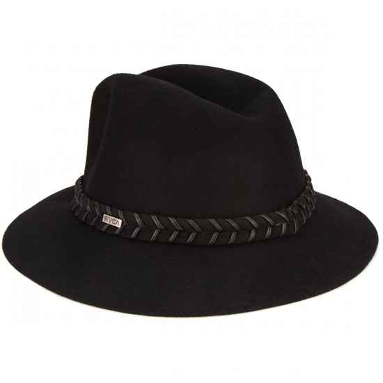 RVCA Rosy Fruits Womens Fedora Hat - Black