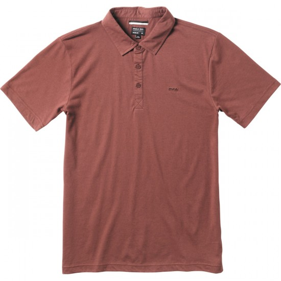 RVCA Sure Thing Polo Shirt - Red Earth