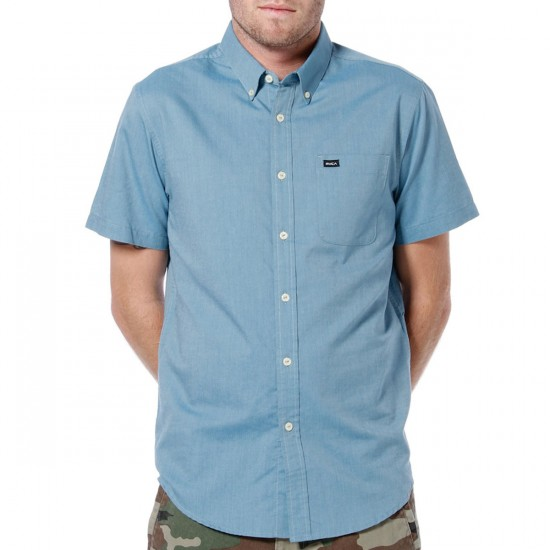 RVCA That'll Do Oxford Shirt - Blue Surf