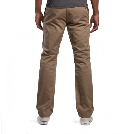 RVCA The Week-End Pants - Dark Khaki - 38 - 32