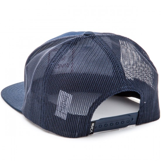 RVCA VA All The Way Truck Hat - Navy with Red