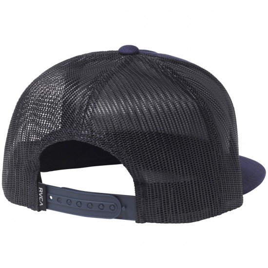 RVCA VA All The Way Trucker Hat - Navy