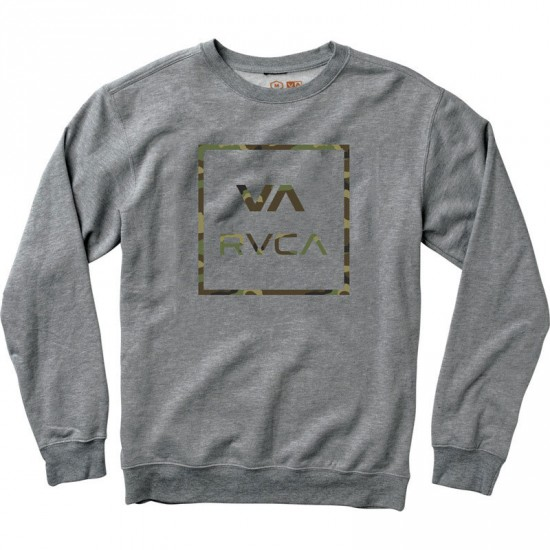 RVCA Vamo Fleece Crewneck Sweatshirt - Grey Noise