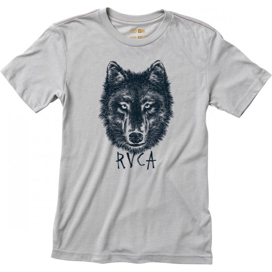 RVCA Wolf Head Youth T-Shirt - Cool Grey