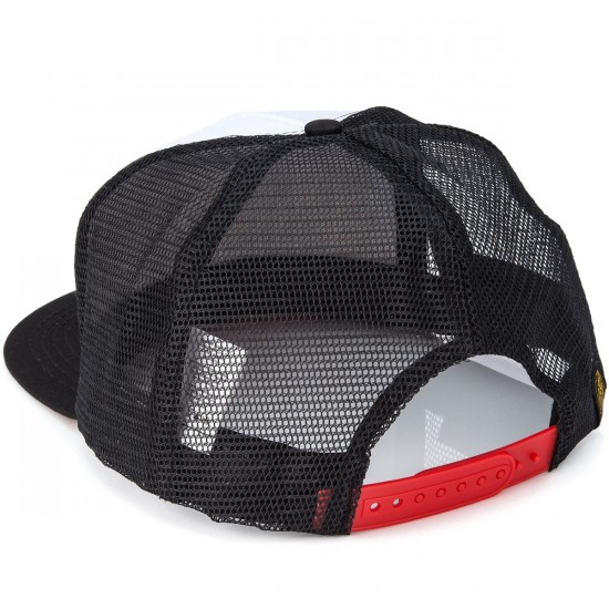 Santa Cruz Psyched Trucker Mesh Hat - White/Black
