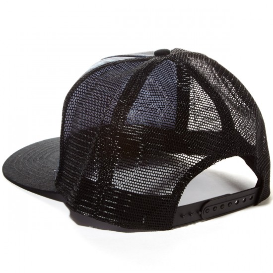 Santa Cruz Shroom Dot Trucker Hat - Black Tie Dye/Black