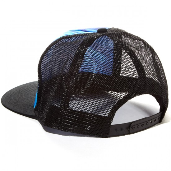 Santa Cruz Shroom Dot Trucker Hat - Blue Tie Dye/Black