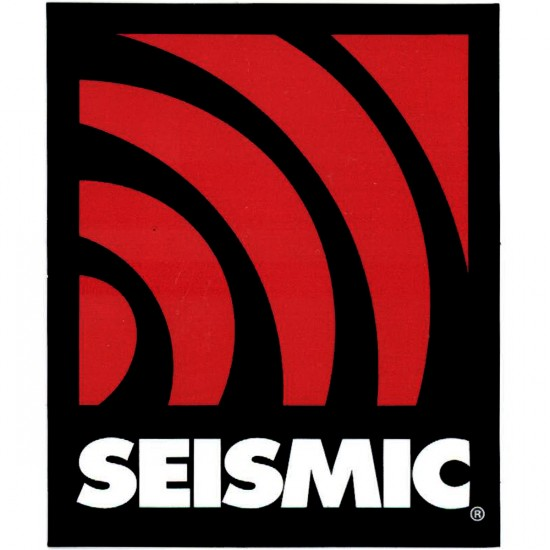 Seismic Shock Wave Sticker - Red