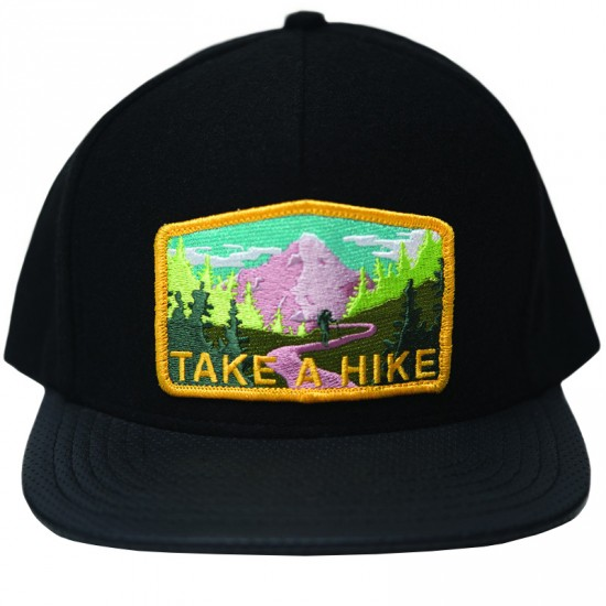 Skate Mental Take A Hike Leather Hat - Black