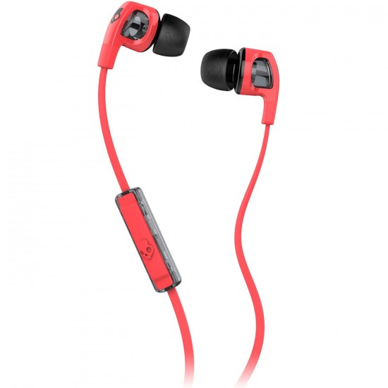 Skullcandy Smokin Buds 2 Mic1 Headphones - Hot Red / Black