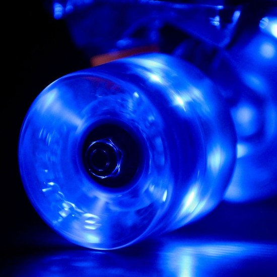 Sunset Flare LED Conical Skateboard Cruiser Wheels - 59mm 78a - Blue
