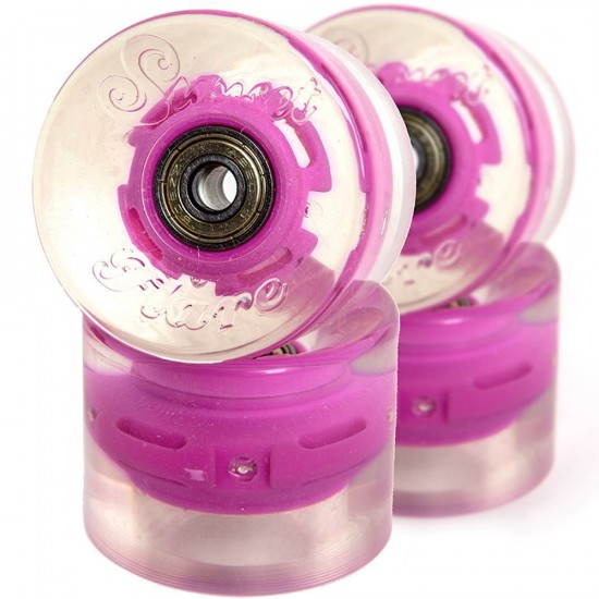Sunset Flare LED Conical Skateboard Cruiser Wheels - 59mm 78a - Pink