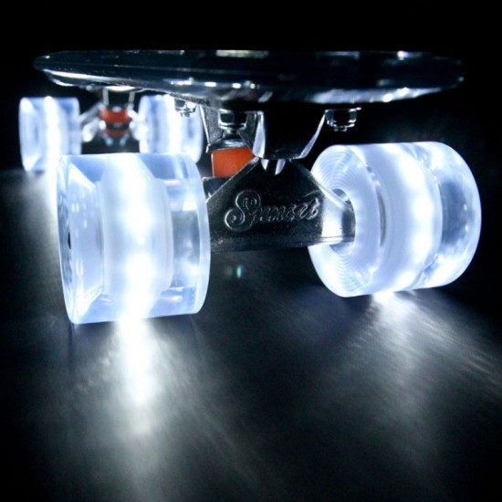 Sunset Flare LED Conical Skateboard Cruiser Wheels - 59mm 78a - White