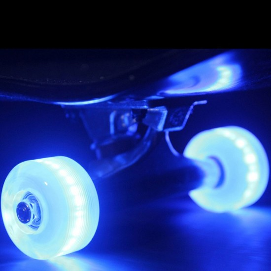 Sunset Flare LED Skateboard Wheels - 54mm 90a - Blue