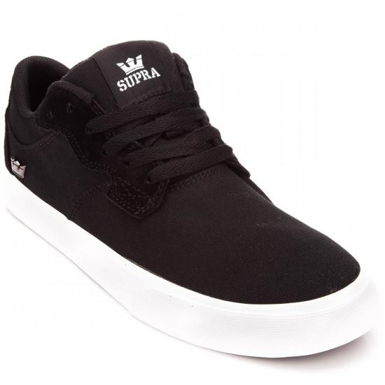 Supra Axle Shoes - Black/White - 10.0