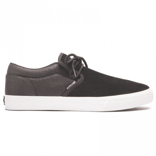 Supra Cuba Shoes - Black/White - 4.0