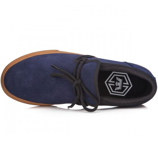 Supra Cuba Shoes - Blue Nights/Black/Gum - 7.0