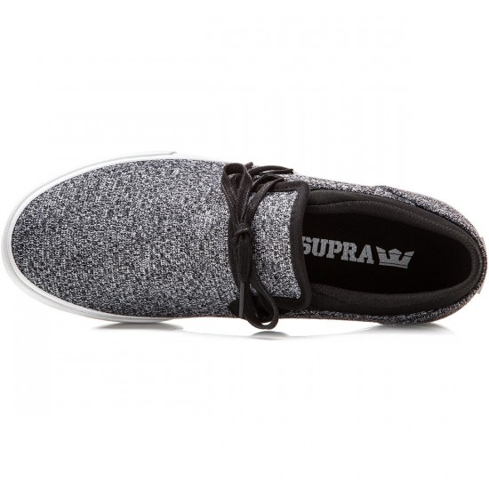 Supra Cuba Shoes - Charcoal/Heather/Black/White - 10.0