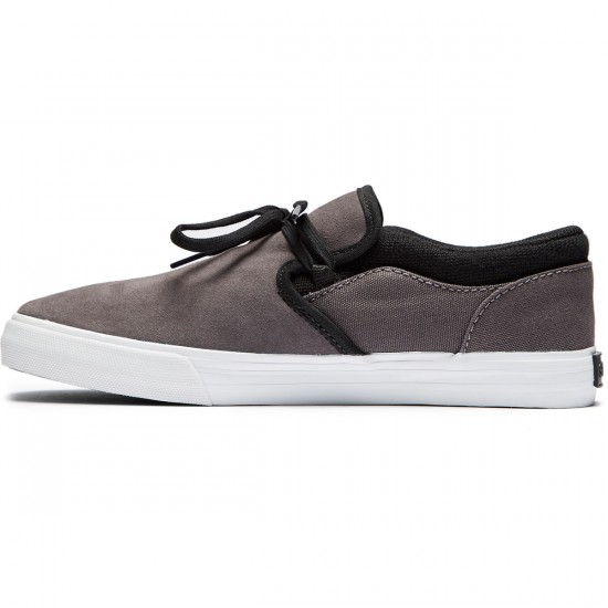 Supra Cuba Shoes - Dark Grey/Black/White - 8.0